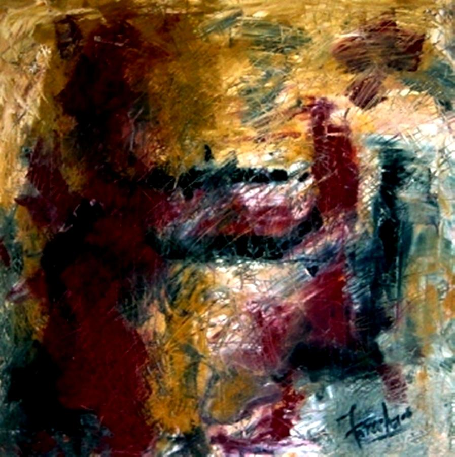 Abstract Painting - My Solace  by Fareeha Khawaja