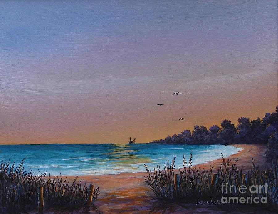Landscape Painting - Myrtle Beach Sunset by Jerry Walker