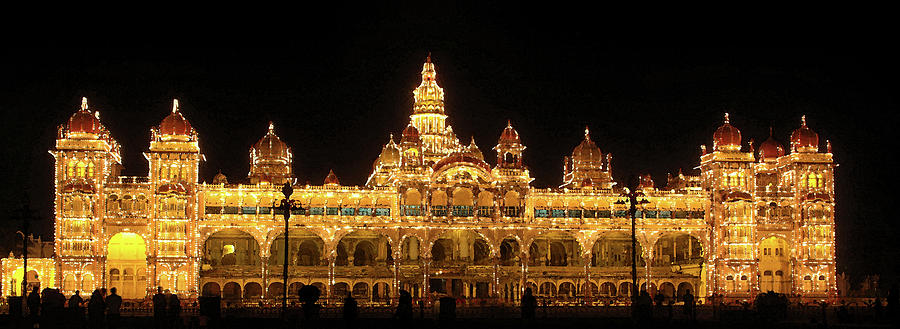 Mysore Digital Art - Mysore Palace by Sandeep Gangadharan