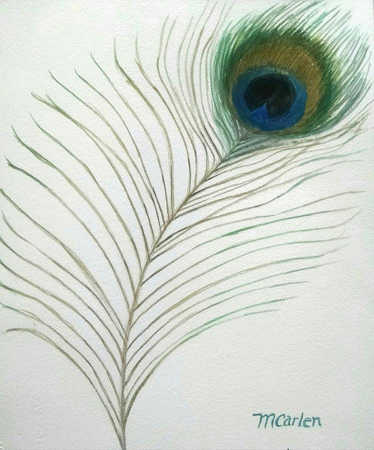 Mythical Peacock Feather by M Carlen