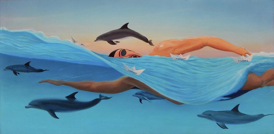 Nadando contra corriente by Angel Ortiz