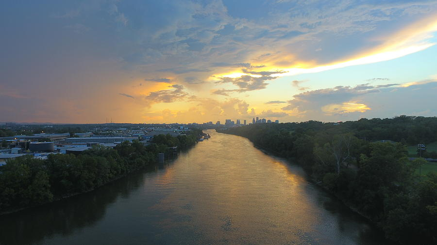 Sunset Photograph - Nashville Sunset  by Michael Tims