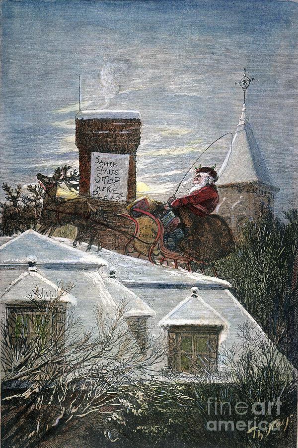 19th Century Photograph - Nast: Santa Claus by Granger