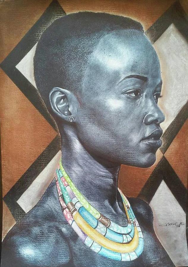 Nathanael Maza - The Artist - Democratic Republic Of Congo Digital Art by Alexandra Indaco-Heredia