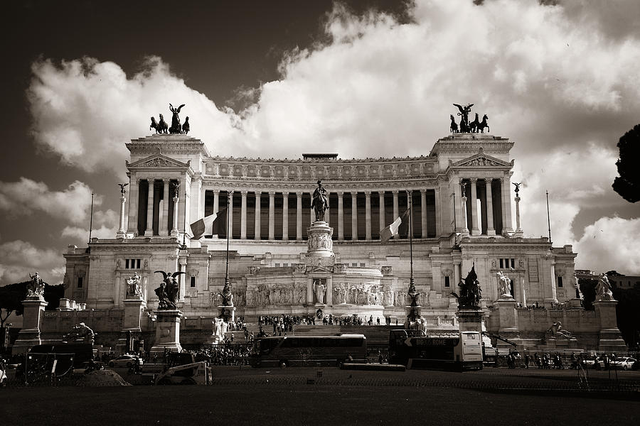Rome Photograph - National Monument To Victor Emmanuel II  by Songquan Deng