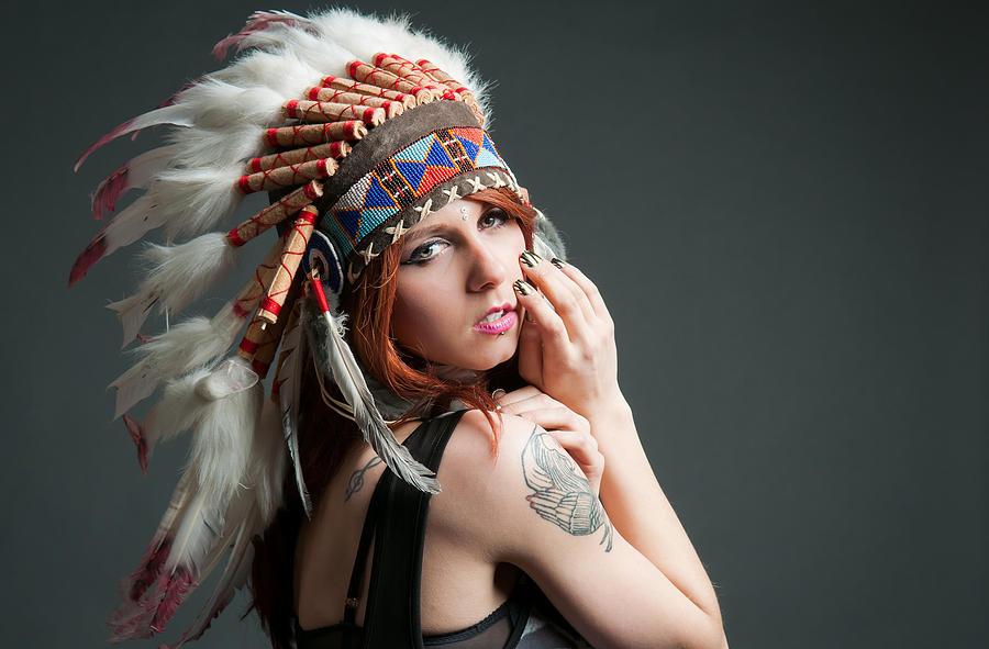 Native American Digital Art - Native American by Dorothy Binder
