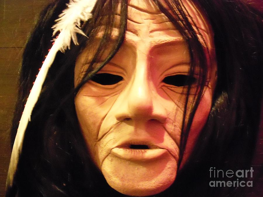 Native American Sculpture - Native Mask by Magenta Marie Spinningwind