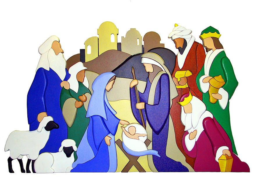 Nativity Scene Photograph - Nativity Scene by Munir Alawi