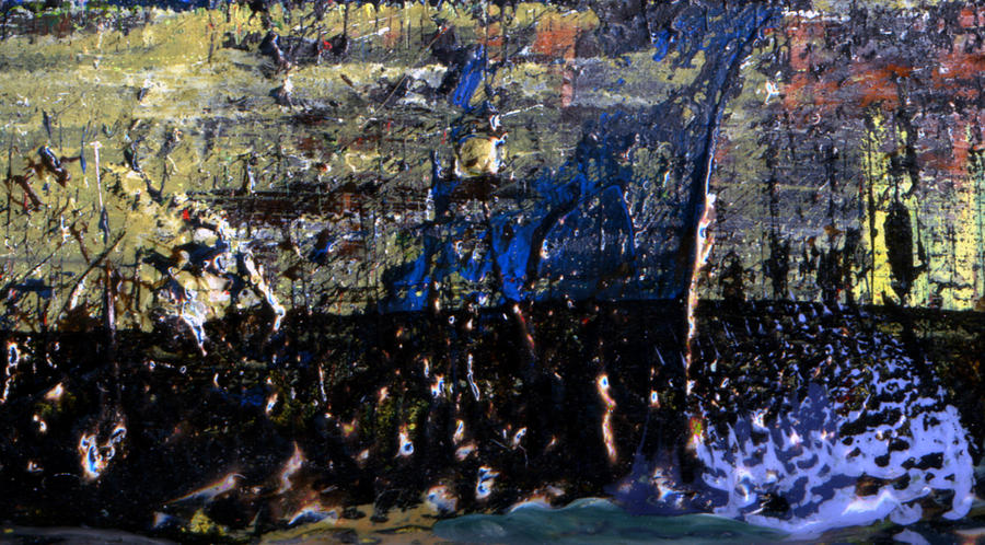 Natural Blue Painting by Jonathon Hetts