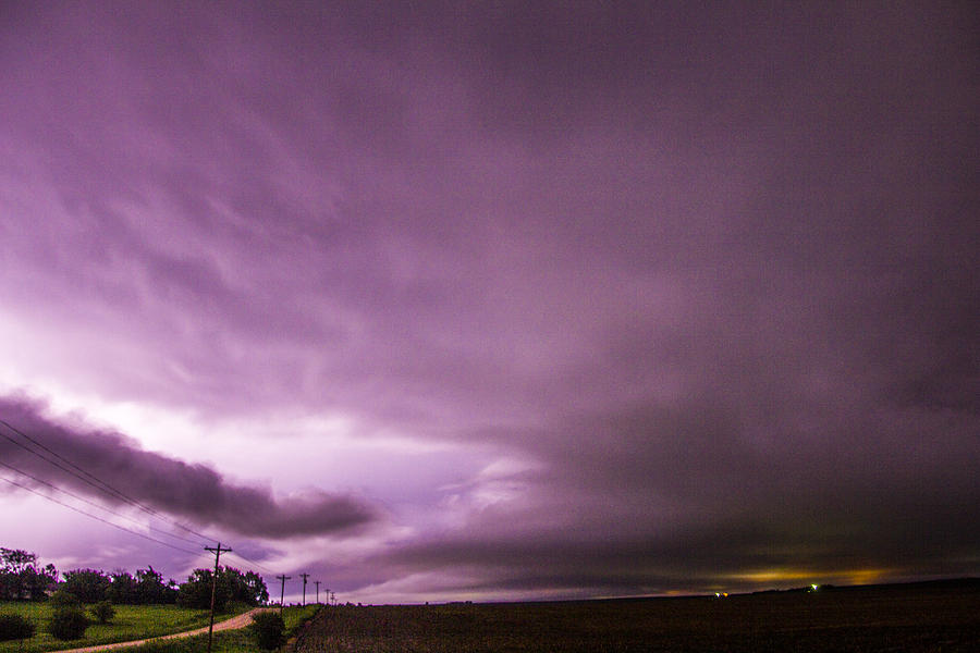 Cloudscape Photograph - Nebraska Night Thunderstorms 009 by NebraskaSC