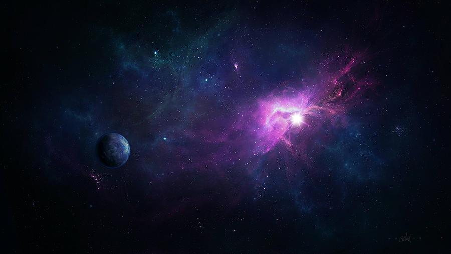 Nebula Digital Art - Nebula by Dorothy Binder