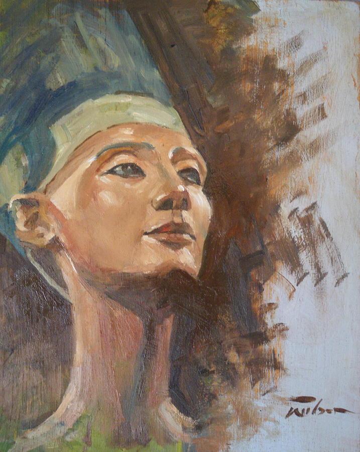 Nefertiti Painting - Nefertiti by Ron Wilson
