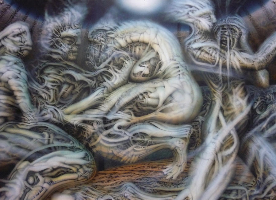 Biomechanical Painting - Neglect by David Frantz
