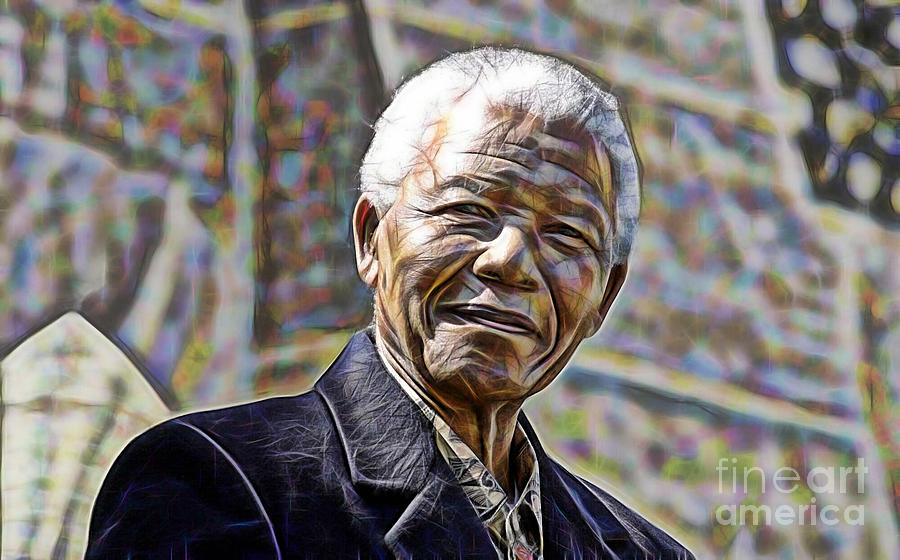 Nelson Mandela Mixed Media - Nelson Mandela Collection by Marvin Blaine
