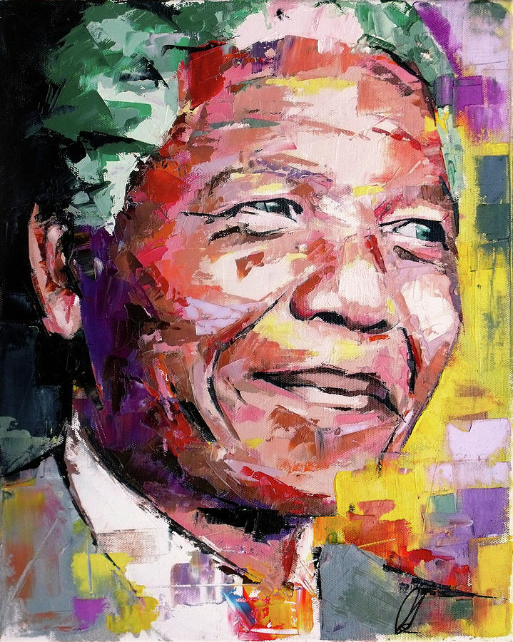 Nelson Mandela Painting By Richard Day