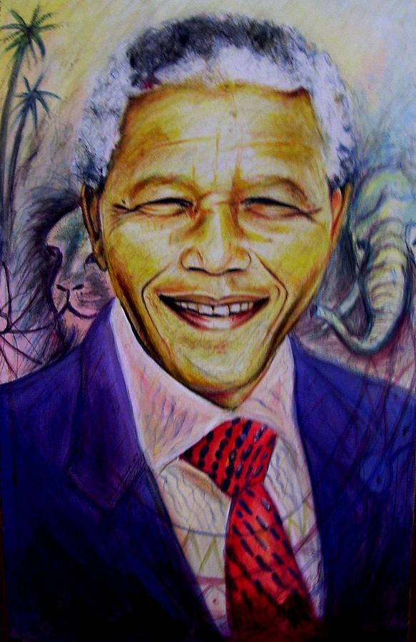 Mixed Media Painting - Nelson Mandela by Wale Adeoye