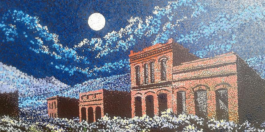 Ghost Town Painting - Nevada Ghost Town by Kevin Heaney