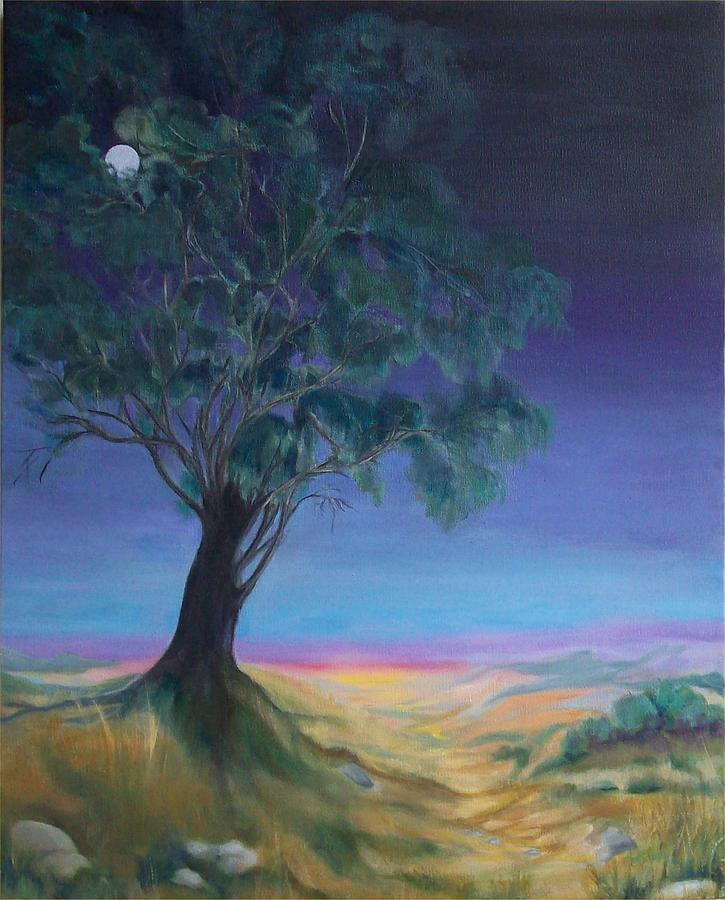 Night Sky Painting - New Day by Irene Corey
