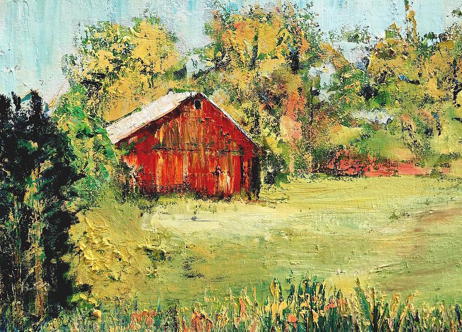Barn Painting - New England Barn by Julia S Powell