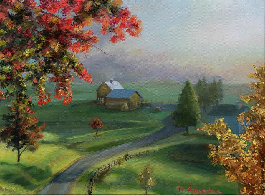 New England Landscape Painting By Dominique Amendola