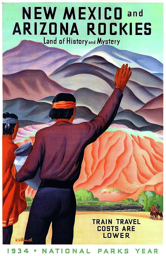 New Mexico Painting - New Mexico And Arizona Rockies by Long Shot