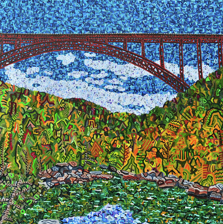New River Gorge Painting - New River Gorge by Micah Mullen