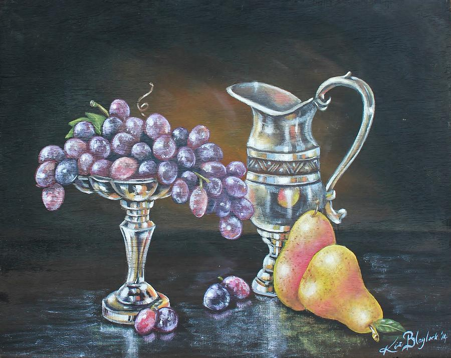 Silver Painting - Fruit N Silver by Kimberly Blaylock