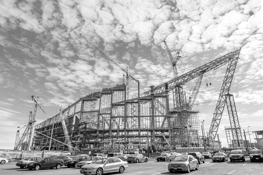 Minneapolis Photograph - U S Bank Stadium Under Construction by Jim Hughes