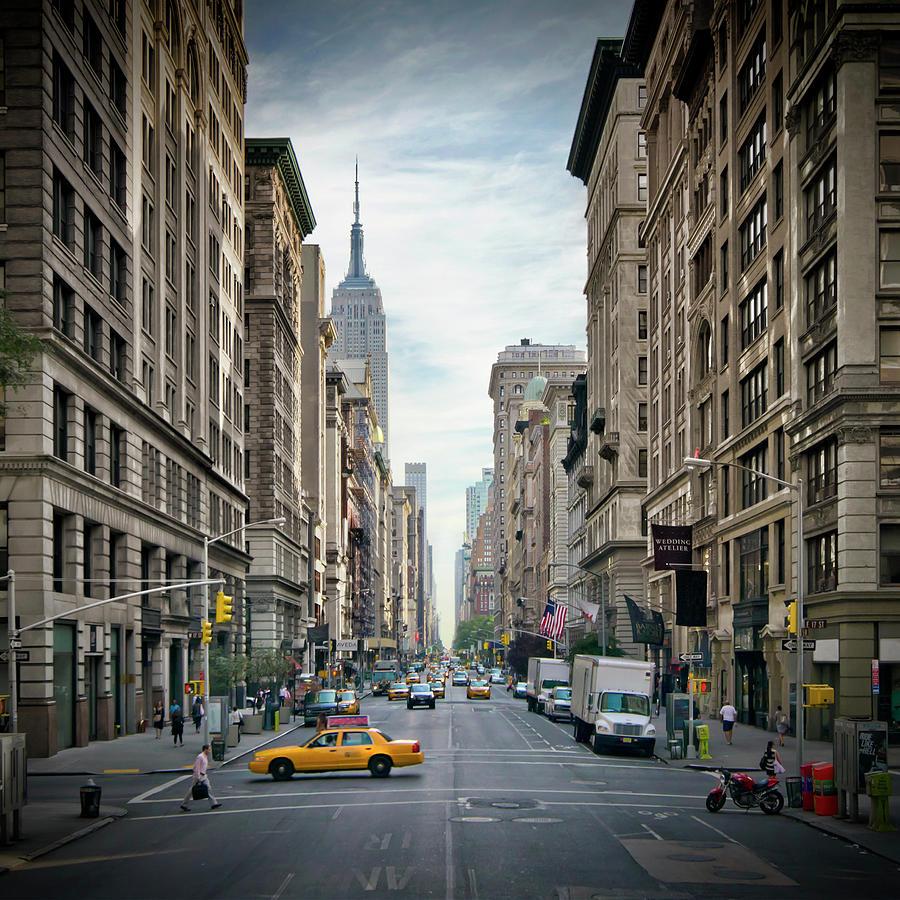 Fifth Avenue Photograph - New York City 5th Avenue  by Melanie Viola