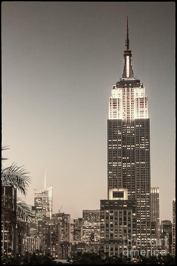 New York Empire State building Photograph by Juergen Held