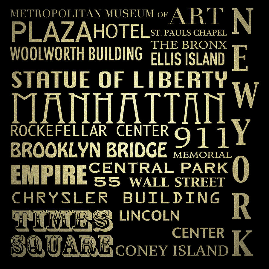 New York Digital Art - New York Famous Landmarks Silver by Patricia Lintner
