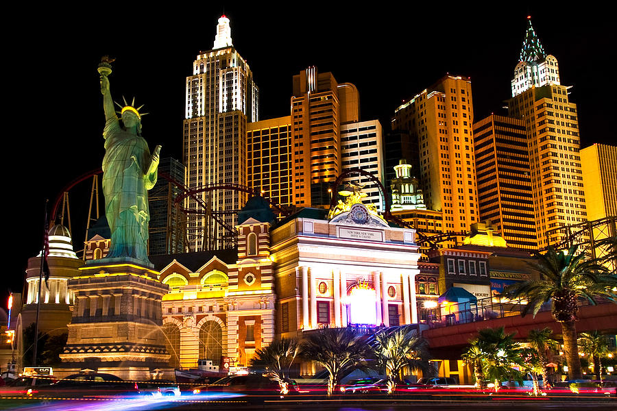 Nevada Photograph - New York  New York Casino by James Marvin Phelps