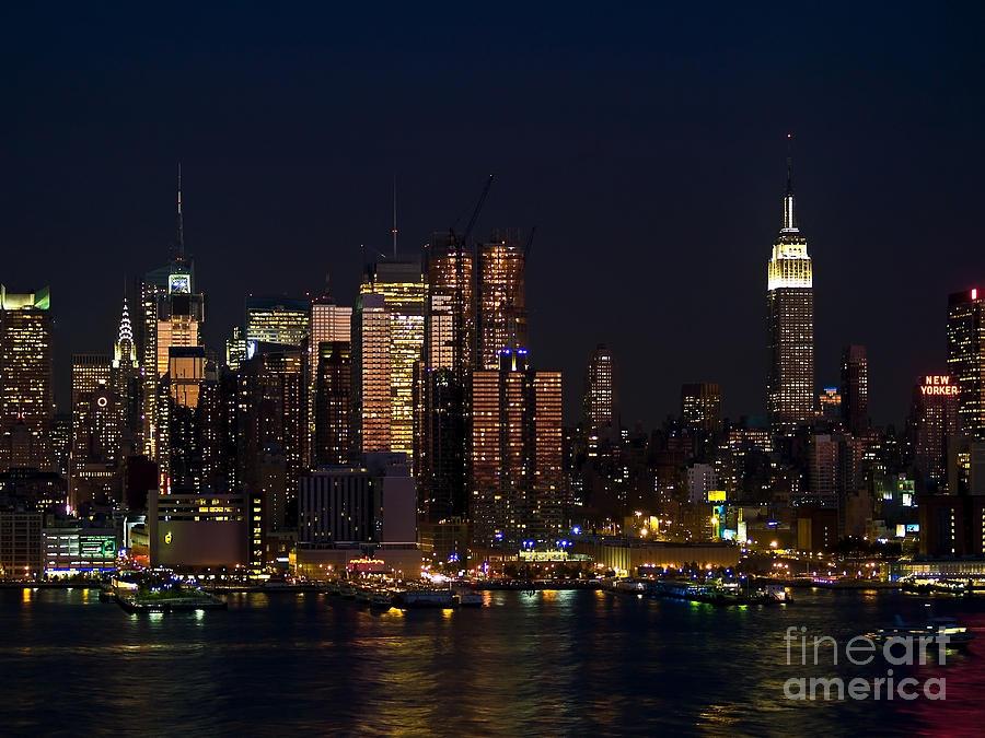 Ny Photograph - New York Skyline View by Andrew Kazmierski