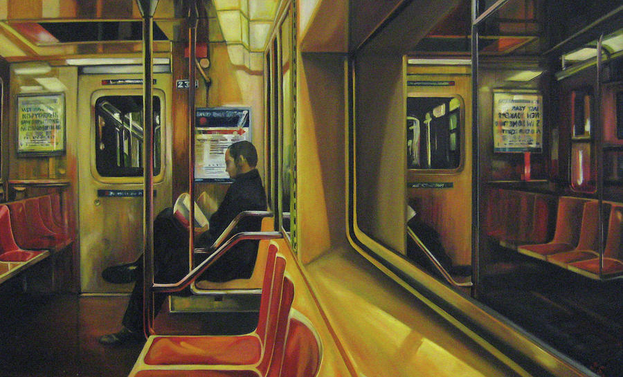 new york subway painting by shane sutton