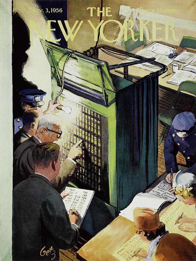 New Yorker November 3 1956 Painting by Leonard Dove