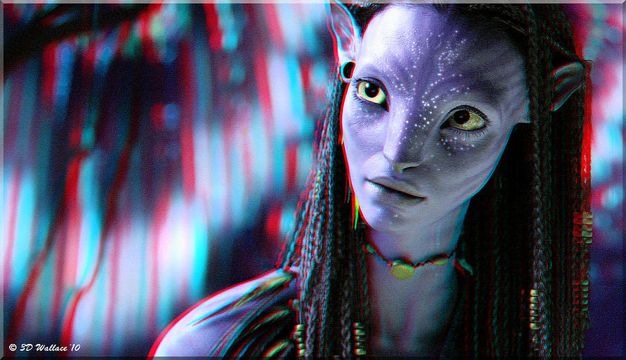 3d Photograph - Neytiri - Use Red And Cyan 3d Glasses by Brian Wallace