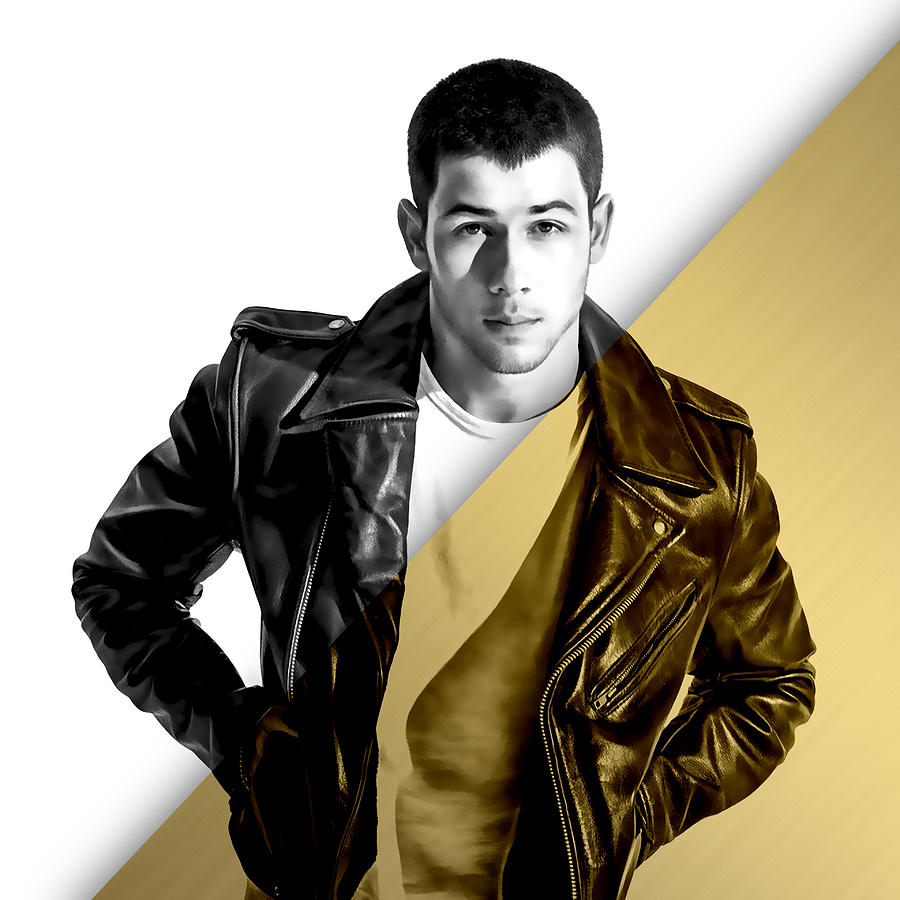 2d4a5afc738 Nick Jonas Collection Mixed Media by Marvin Blaine