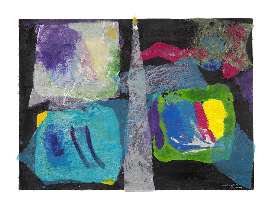 Expressionism Mixed Media - Night Light by Nancy Brockett