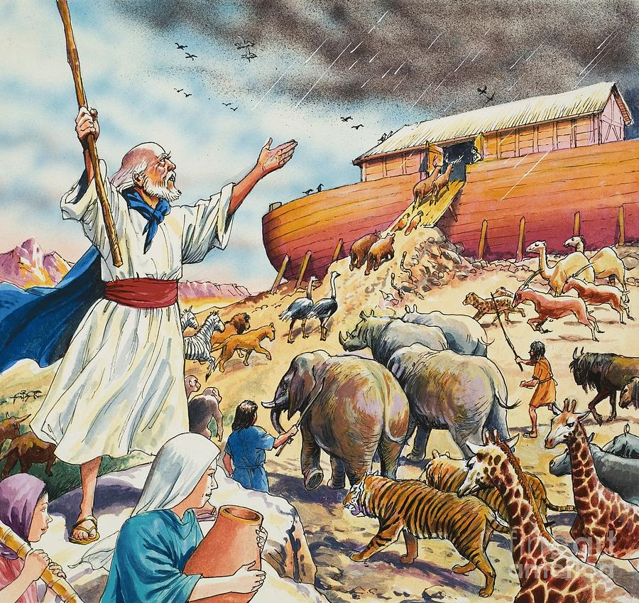Noahs Ark Painting By English School