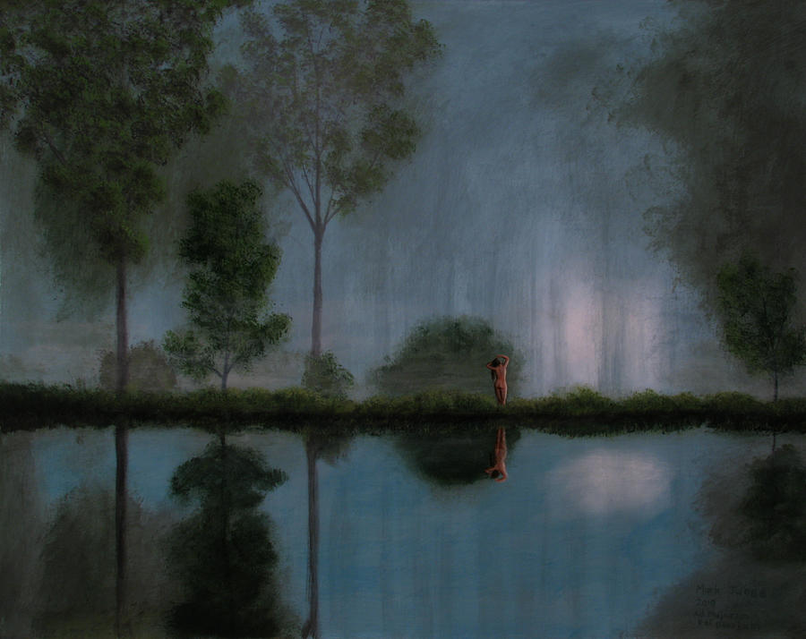 Female Painting - Nocturne by Mark Junge