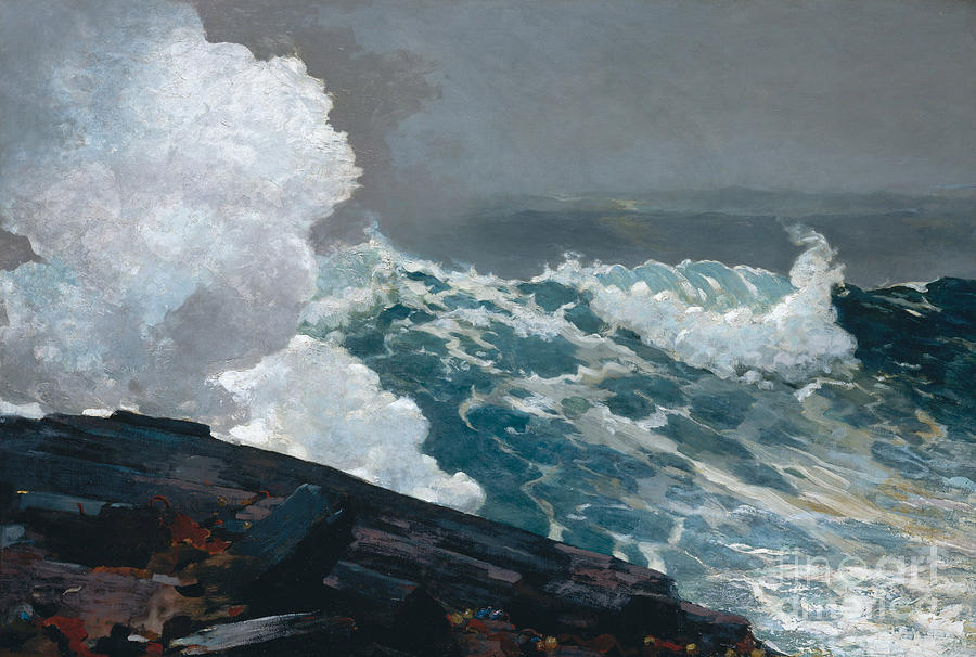 Northeaster Painting - Northeaster, 1895 by Winslow Homer