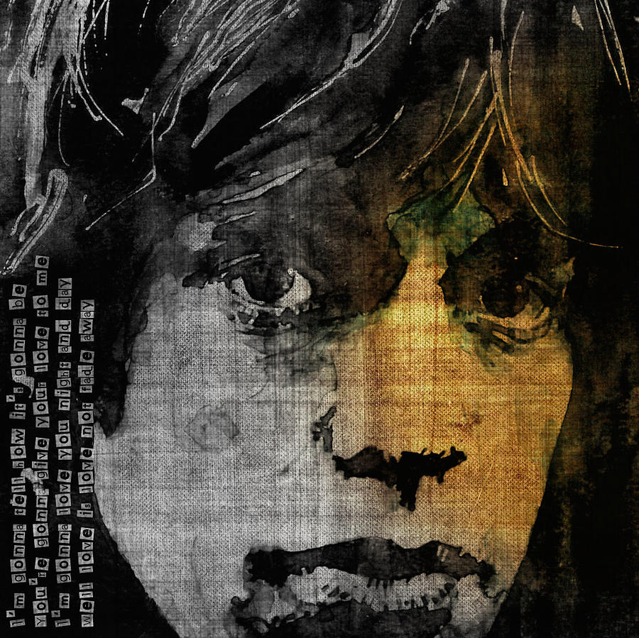 Mick Jagger Painting - Not Fade Away  by Paul Lovering