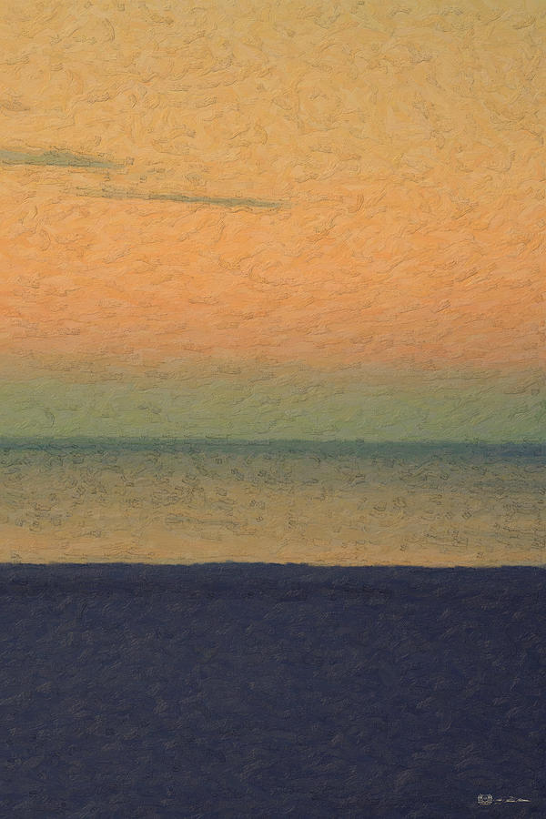 Beach Photograph - Not quite Rothko - Breezy Twilight by Serge Averbukh