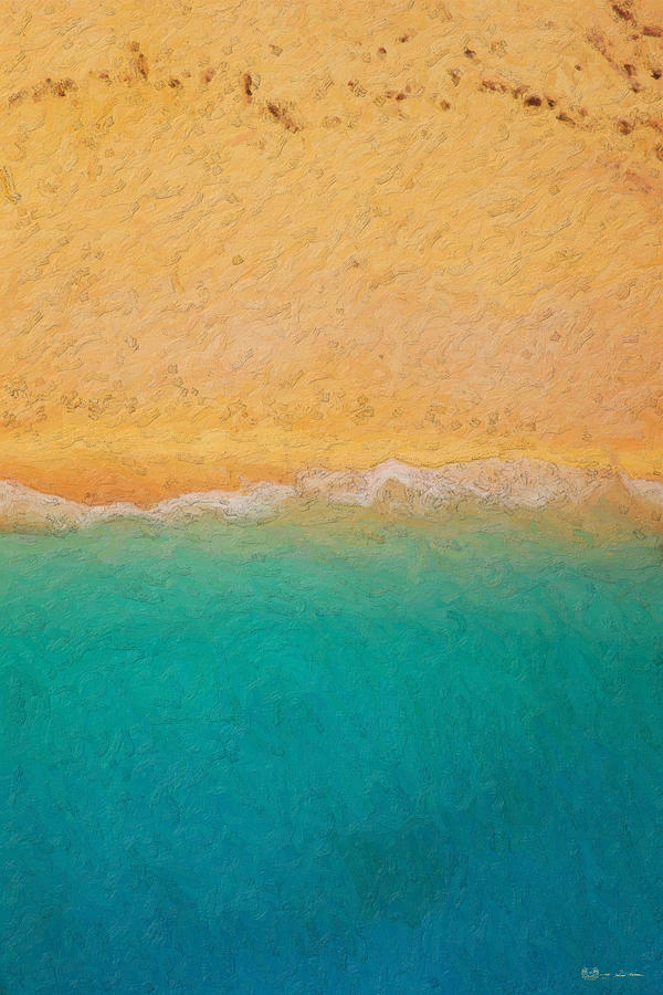 Beach Photograph - Not quite Rothko - Surf and Sand by Serge Averbukh