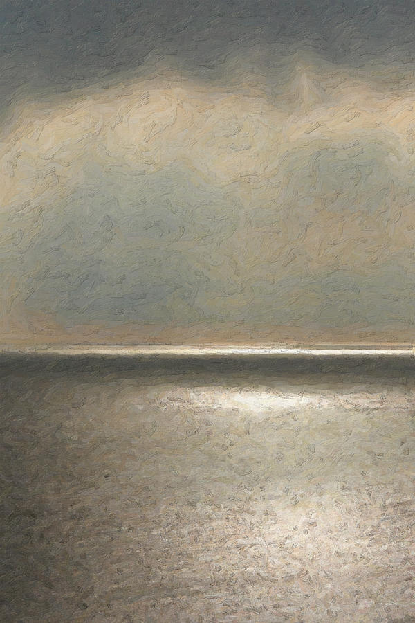 Beach Photograph - Not quite Rothko - Twilight Silver by Serge Averbukh