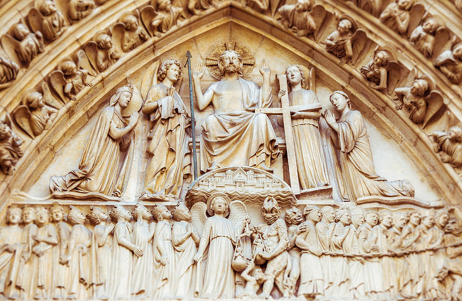 Notre Dame Cathedral Portal of the Final Judgement by Nila Newsom