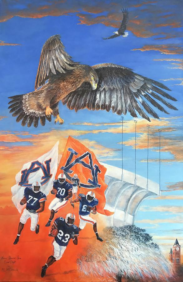 Auburn Painting - Spirits Soaring High by ML McCormick