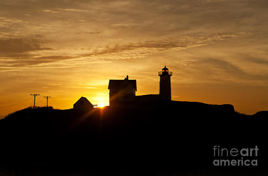 Cape Neddick Photograph - Nubble Lighthouse by John Greim