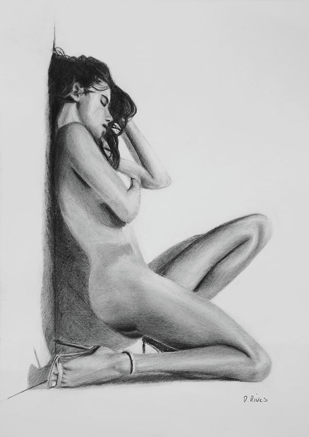 Draw naked women, fucked in thigh high socks
