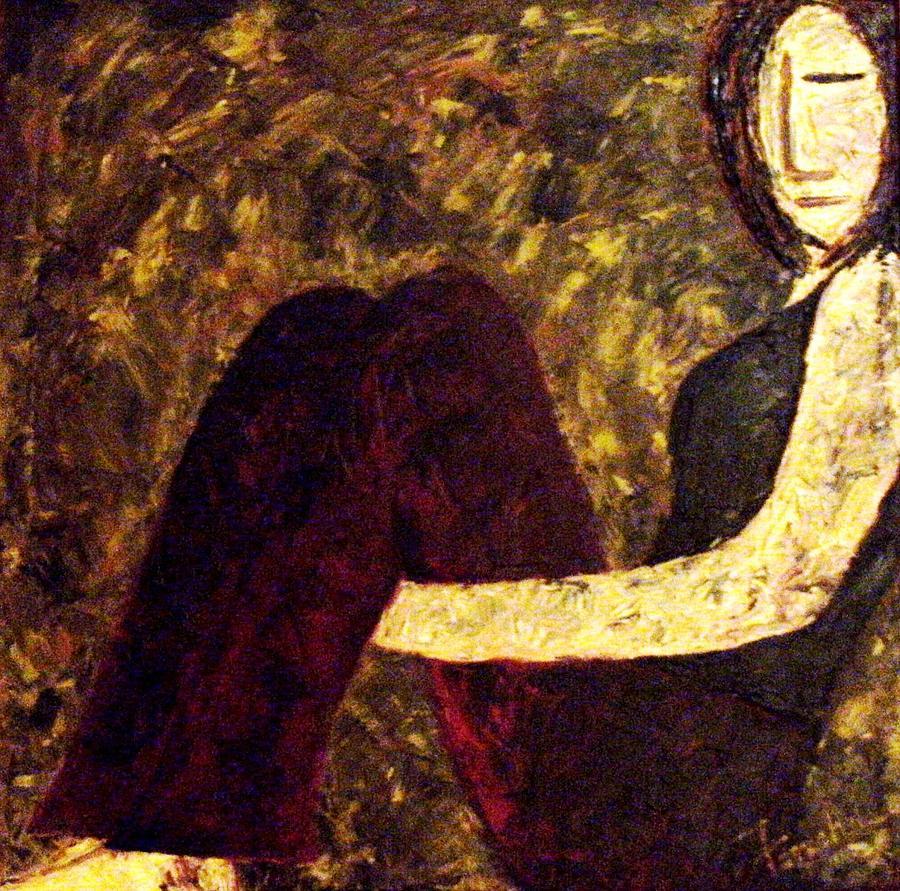 Abstract Painting - Numb by Fareeha Khawaja